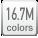 16.7M color